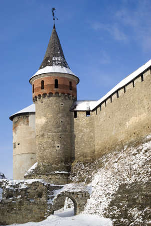 Kamyanets-Podilsky, Ukraine � January 15, 2012:  The medieval fortress Stock Photo - 17227986