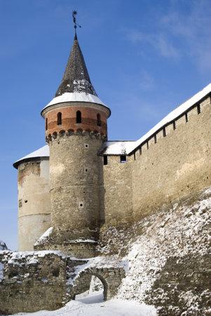 Kamyanets-Podilsky, Ukraine � January 15, 2012:  The medieval fortress Stock Photo - 17227986