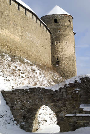 Kamyanets-Podilsky, Ukraine � January 15, 2012:  The medieval fortress Stock Photo - 17227984