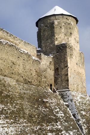 Kamyanets-Podilsky, Ukraine – January 15, 2012:  The medieval fortress Stock Photo - 17227989