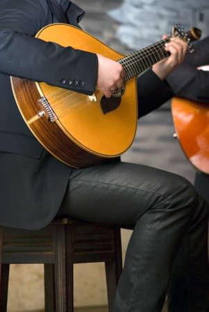 Guitarra portuguesa tradicional Foto de archivo