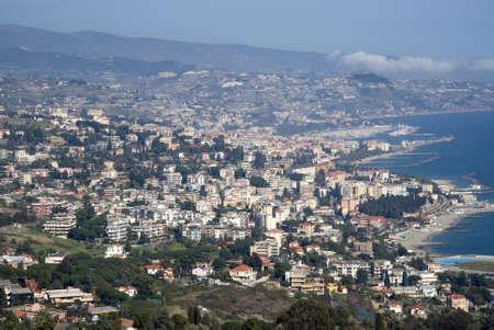 sanremo: Aerial view of Sanremo, Italy Stock Photo
