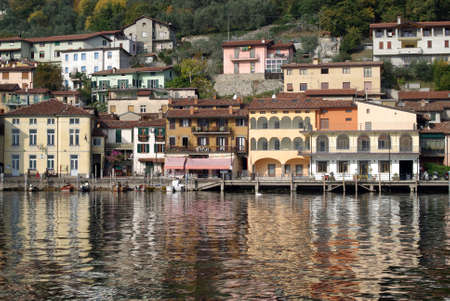 Town of Peschiera, Iseo lake, Italy photo