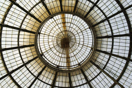 ceiling construction: Milan, Italy � February 2, 2010:  Glass ceiling in �Vittorio Emanuele� gallery Editorial
