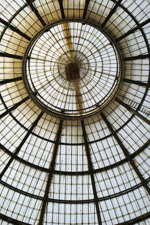 vittorio emanuele: Milan, Italy � February 2, 2010:  Glass ceiling in �Vittorio Emanuele� gallery Editorial