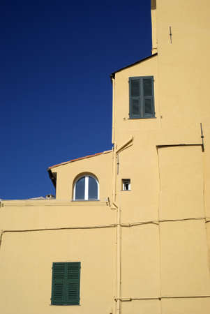 Imperia, Liguria, Italy � October 18, 2009: The old fashioned Mediterranean architecture Stock Photo - 17262266