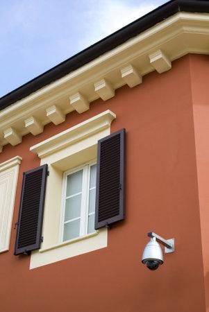 Serravalle Scrivia, Italy – July 19, 2012: The colorful mediterranean architecture Stock Photo - 17262232