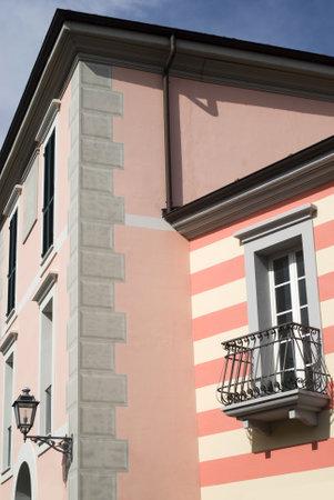 Serravalle Scrivia, Italy – July 19, 2012: The colorful mediterranean architecture Stock Photo - 17262255