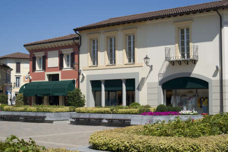 Serravalle Scrivia, Italy � July 11, 2012: The colorful mediterranean architecture