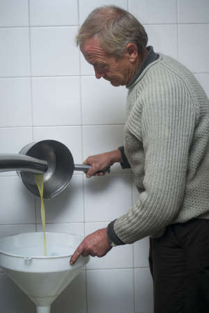 Olive oil production photo