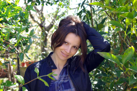Woman in garden photo