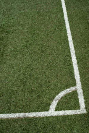 The lines on soccer field photo