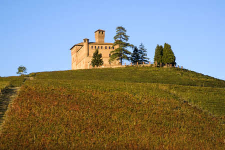 Piedmont, Italy � October 20, 2010: Castle of Grinzane Cavour