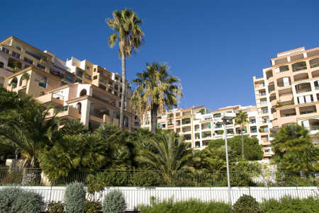 Principality of Monaco � December 9, 2012: Modern condominium building