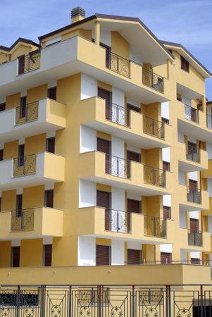 sanremo: San Remo, Italy � March 28, 2010: Exterior facade of a modern condominium building