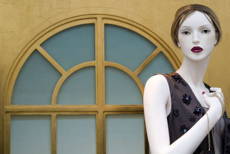 Principality of Monaco � August 30, 2012: Fashion mannequin in a store window