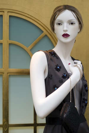 store window: Principality of Monaco � August 30, 2012: Fashion mannequin in a store window  Editorial