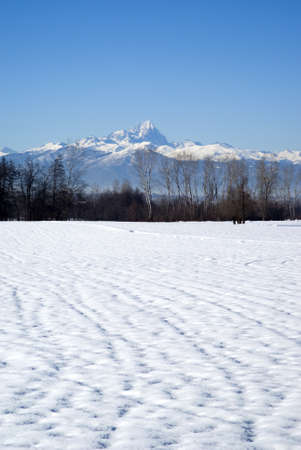 Italy, Piedmont. A view the mountain range of the Cottian Alps photo