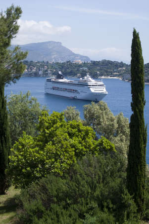french riviera: Bay of Villefranche, French Riviera Stock Photo