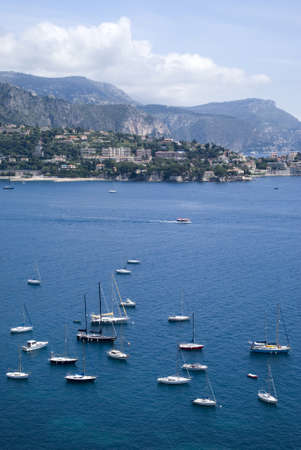 villefranche sur mer: Bay of Villefranche, French Riviera Stock Photo