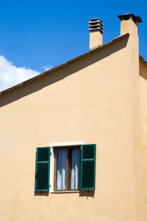 Colorful house wall with windows in Mediterranean style Stock Photo - 23019737