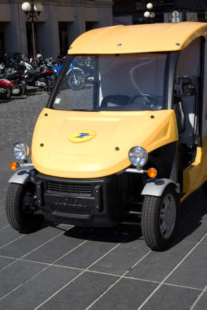 Electric car used by the French Post Office in Nice
