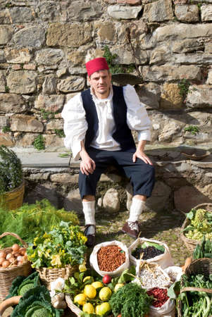 enactment: Medieval market  Historical reenactment Stock Photo