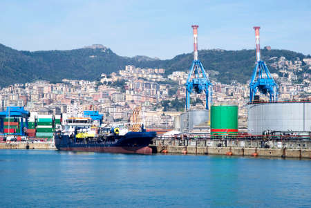 Cargo terminal in the Port of Genoa photo