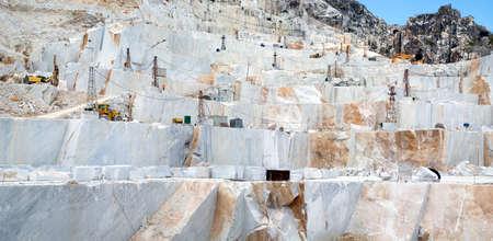 carrara: Marble quarry site in Carrara, Italy