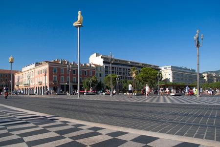 Nice, France - August 27, 2014: Massena Square