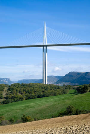 millau: Millau, France - October 23, 2014: Pylon of the Millau Viaduct Editorial