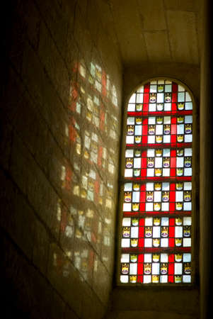 colored window: Stained glass window