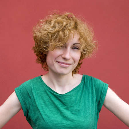 redhaired: Portrait of confident red-haired woman Stock Photo