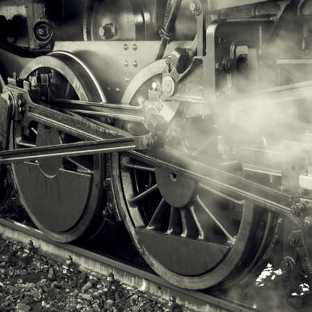 steam locomotive: Steam locomotive wheels