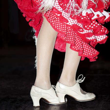 women s feet: Flamenco dancing