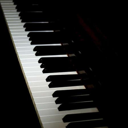 pianoforte: Diagonal view of piano keys Stock Photo
