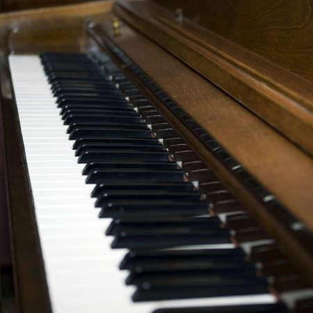 diagonal: Diagonal view of piano keys Stock Photo