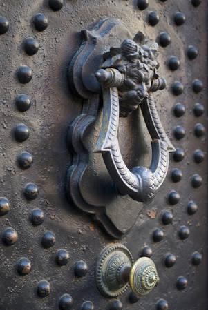 door knocker: Old door knocker Stock Photo