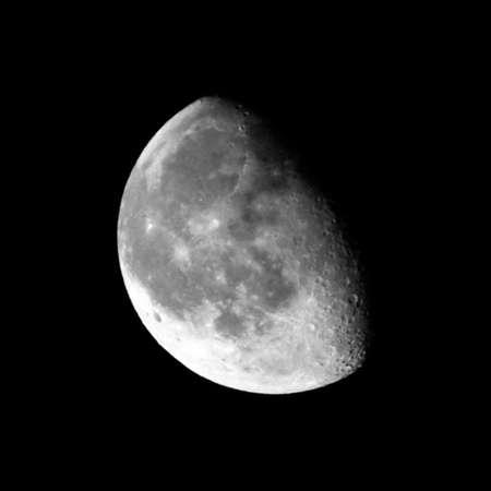 waning moon: The Moon