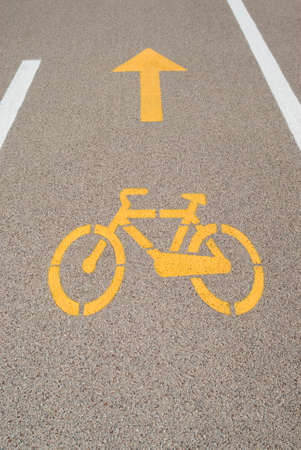 bicycle lane: Bicycle lane sign