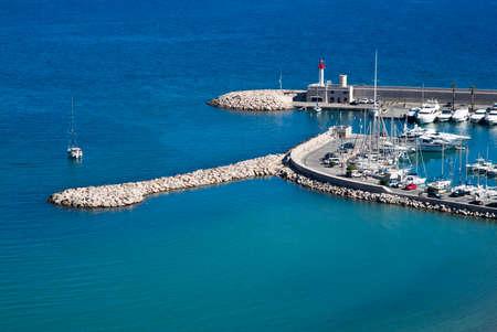touristic: Touristic harbour Stock Photo
