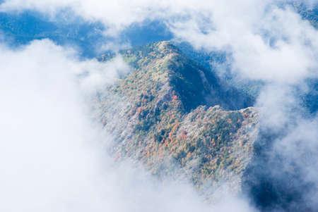 revealing: Fog revealing the mountain range