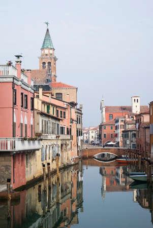 vena: Italy, Chioggia. View of Canal Vena