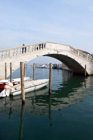 vena: Italy, Chioggia. View Vigo bridge over Canal Vena