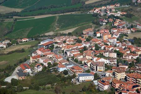 san marino: San Marino urban hillside Stock Photo