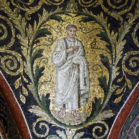 Apostle mosaic detail, Baptistry of Neon. Ravenna, Italy