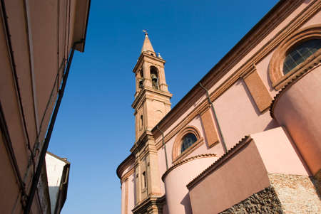 bell tower: The bell tower of Church the Rosary. Comacchio, Italy Stock Photo