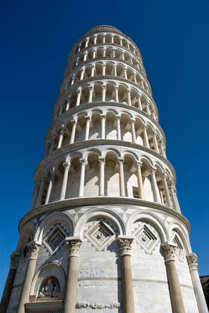 leaning tower of pisa: Low angle view of Leaning Tower of Pisa