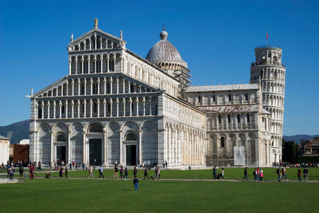 leaning tower of pisa: Pisa, Italy. Duomo and Leaning Tower