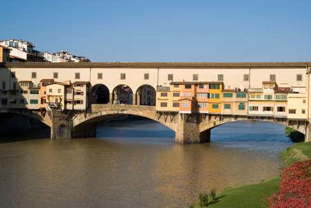ponte: Florence. The Ponte Vecchio Bridge